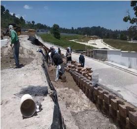 Ejecución de Muro Tierra Armada, Lomas de San Isidro